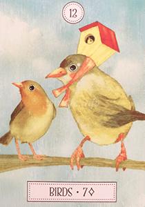 ルノルマン恋占い鳥の意味