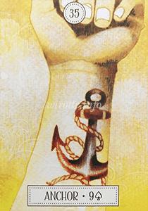 ルノルマン恋占い錨の意味